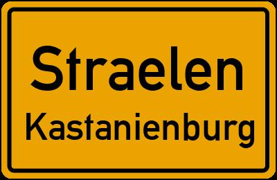 Ortsschild Straelen Kastanienburg