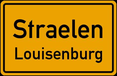 Ortsschild Straelen Louisenburg