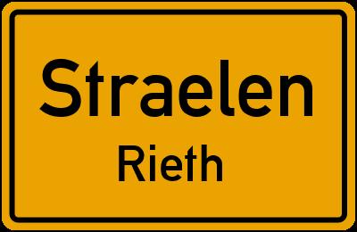 Ortsschild Straelen Rieth