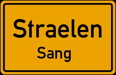 Ortsschild Straelen Sang