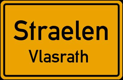 Ortsschild Straelen Vlasrath