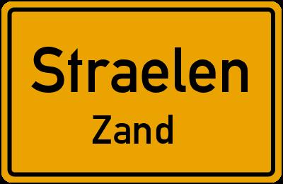 Ortsschild Straelen Zand