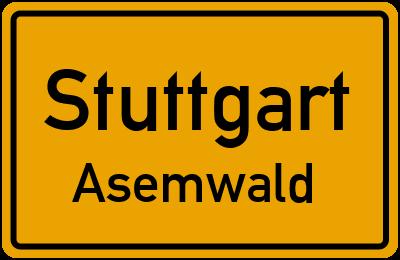 Straßenverzeichnis Stuttgart Asemwald