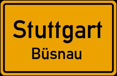 Ortsschild Stuttgart Büsnau