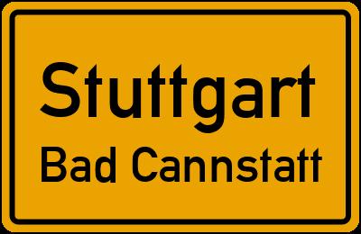 Ortsschild Stuttgart Bad Cannstatt