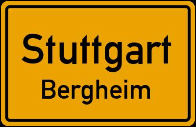 Ortsschild Stuttgart Bergheim
