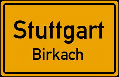 Ortsschild Stuttgart Birkach