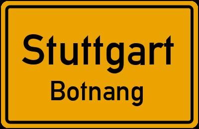 Ortsschild Stuttgart Botnang