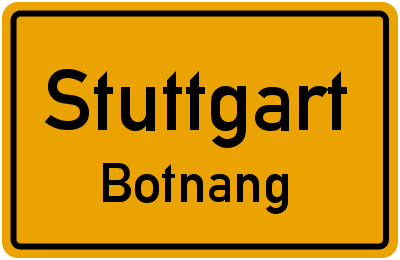 Straßenverzeichnis Stuttgart Botnang