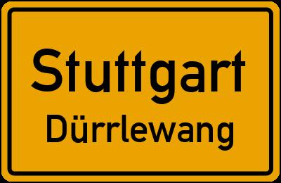 Ortsschild Stuttgart Dürrlewang