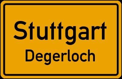 Ortsschild Stuttgart Degerloch