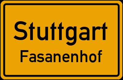 Straßenverzeichnis Stuttgart Fasanenhof