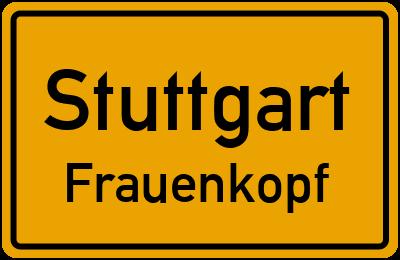 Ortsschild Stuttgart Frauenkopf