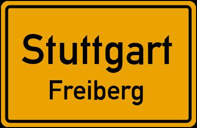 Ortsschild Stuttgart Freiberg