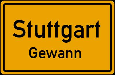Straßenverzeichnis Stuttgart Gewann