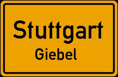 Ortsschild Stuttgart Giebel