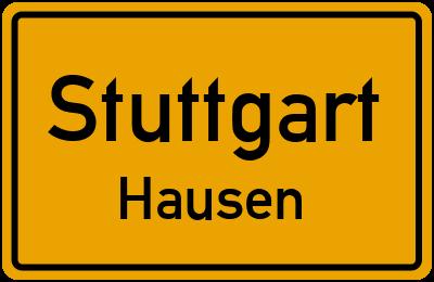 Ortsschild Stuttgart Hausen