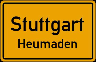 Ortsschild Stuttgart Heumaden