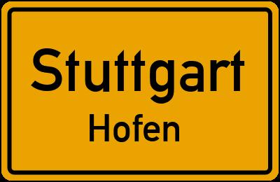 Ortsschild Stuttgart Hofen