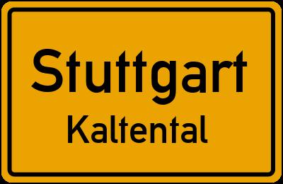 Ortsschild Stuttgart Kaltental