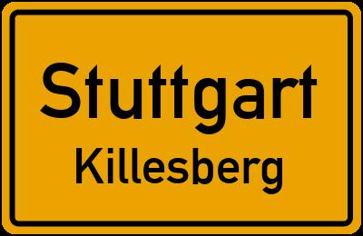 Ortsschild Stuttgart Killesberg