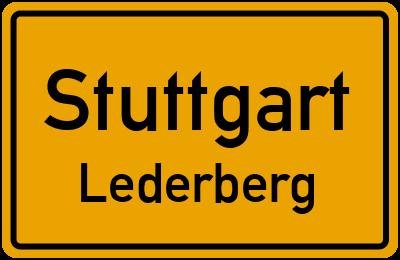 Ortsschild Stuttgart Lederberg