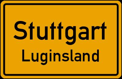Ortsschild Stuttgart Luginsland