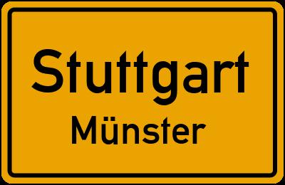 Ortsschild Stuttgart Münster