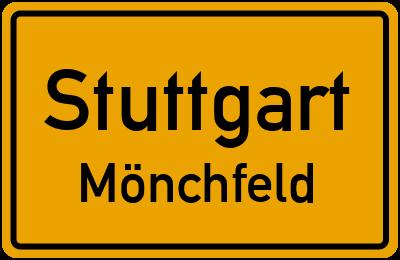 Ortsschild Stuttgart Mönchfeld