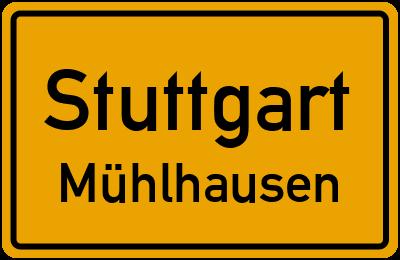 Straßenverzeichnis Stuttgart Mühlhausen