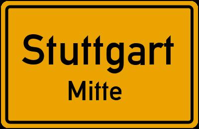 Ortsschild Stuttgart Mitte