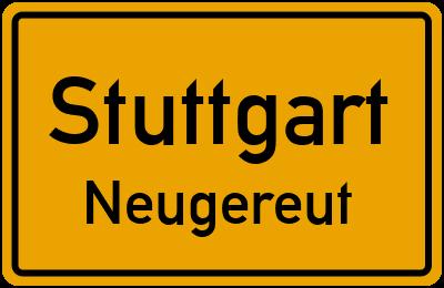Ortsschild Stuttgart Neugereut