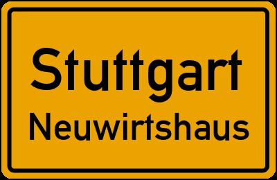 Ortsschild Stuttgart Neuwirtshaus
