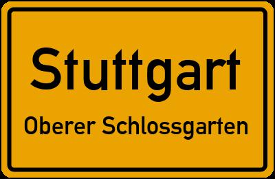 Ortsschild Stuttgart Oberer Schlossgarten