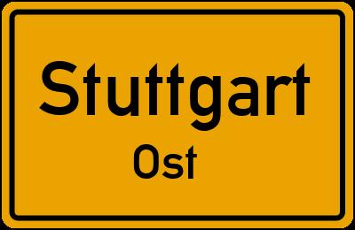 Ortsschild Stuttgart Ost