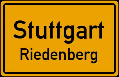Ortsschild Stuttgart Riedenberg