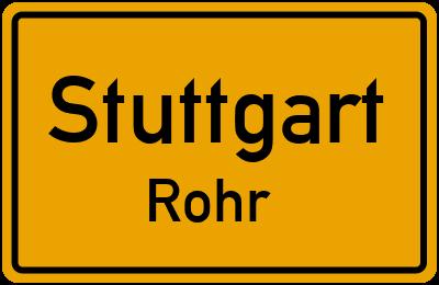 Ortsschild Stuttgart Rohr