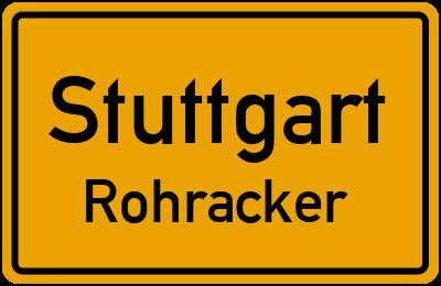 Ortsschild Stuttgart Rohracker