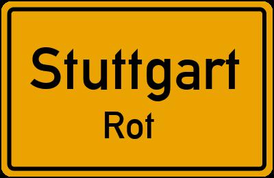 Ortsschild Stuttgart Rot