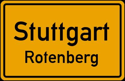 Ortsschild Stuttgart Rotenberg
