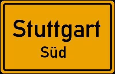 Böblinger Straße in StuttgartSüd