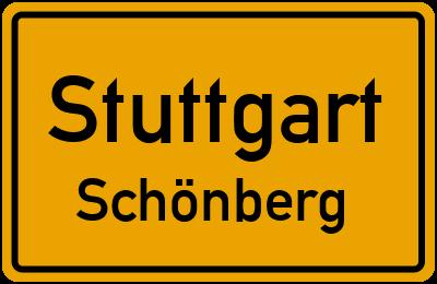 Ortsschild Stuttgart Schönberg