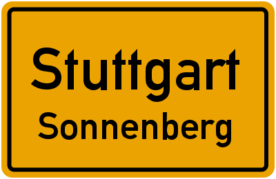 Ortsschild Stuttgart Sonnenberg