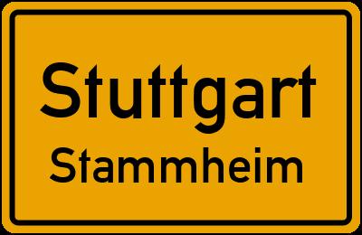 Ortsschild Stuttgart Stammheim