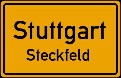 Ortsschild Stuttgart Steckfeld