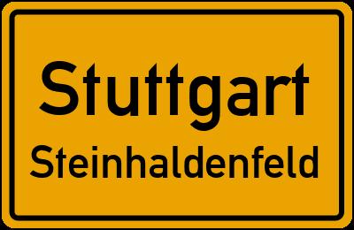 Ortsschild Stuttgart Steinhaldenfeld
