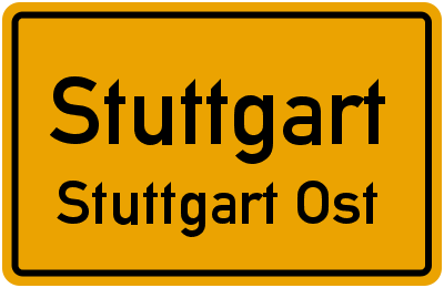 Gerokstraße in StuttgartStuttgart Ost