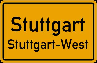 Rosenbergstraße in StuttgartStuttgart-West