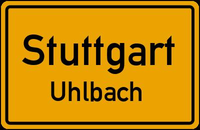 Ortsschild Stuttgart Uhlbach