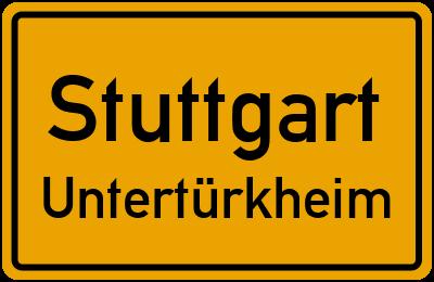 Mercedesstraße in StuttgartUntertürkheim